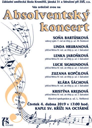Absolventský koncert 4. dubna 2019