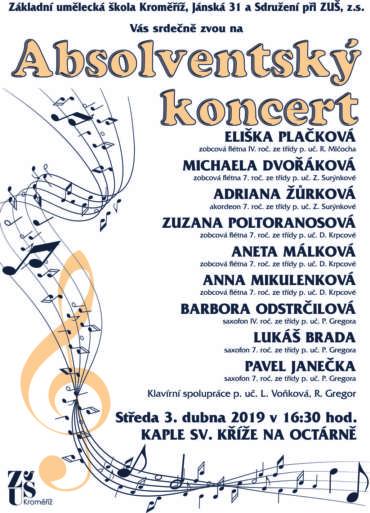 Absolventský koncert 3. dubna 2019
