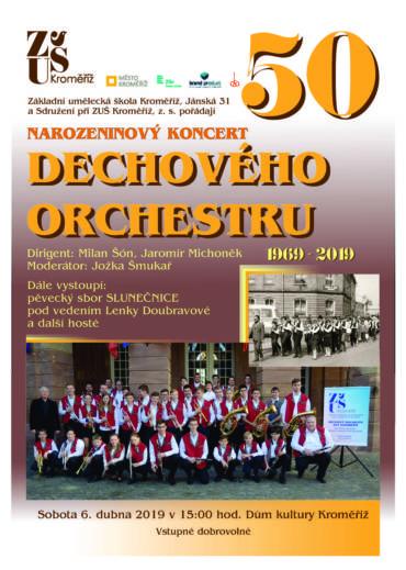 Narozeninový koncert dechového orchestru ZUŠ Kroměříž