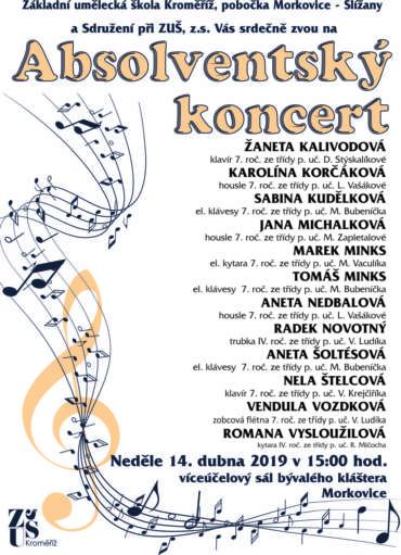 Absolventský koncert v Morkovicích 14. dubna 2019