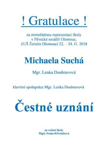 Pěvecká soutěž v Olomouci