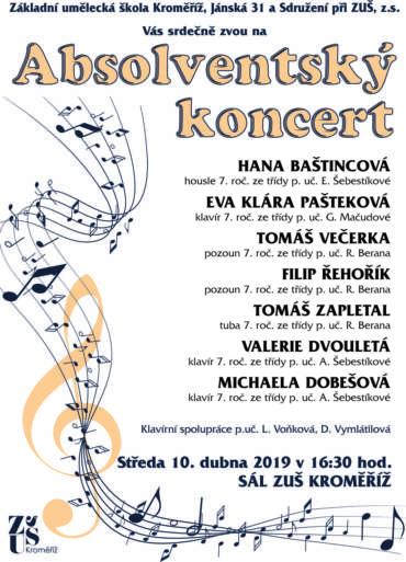 Absolventský koncert 10. dubna 2019