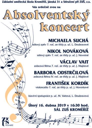 Absolventský koncert 16. dubna 2019