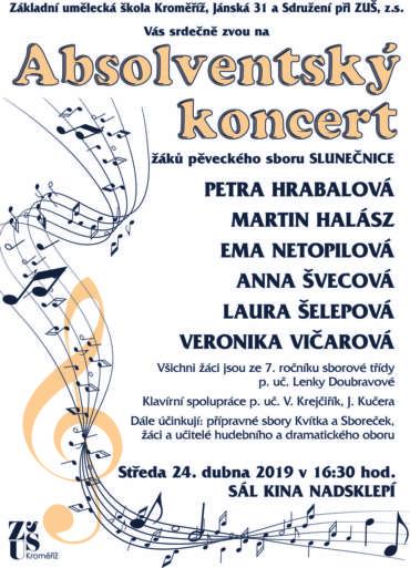 Absolventský koncert 24. dubna 2019