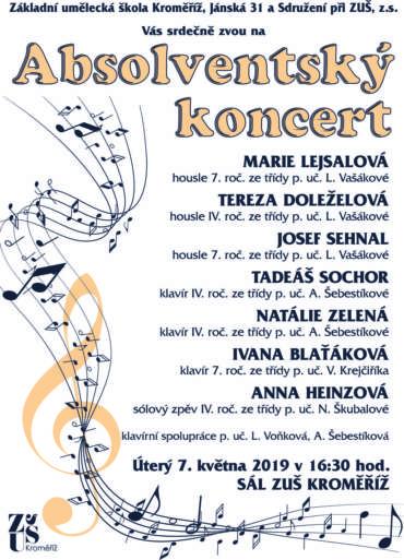 Absolventský koncert 7. května 2019