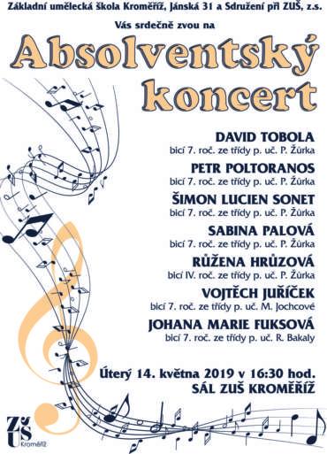 Absolventský koncert 14. května 2019