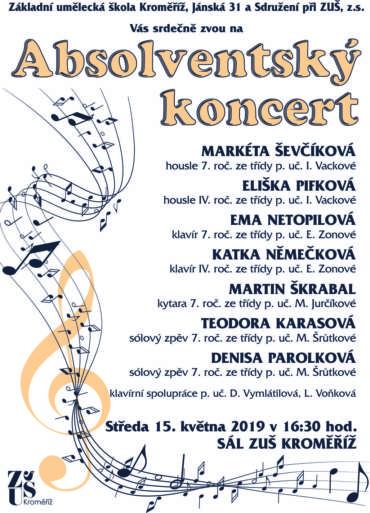 Absolventský koncert 15. května 2019