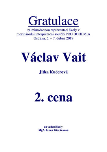 Pro Bohemia Ostrava 2019
