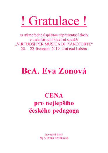 """Mezinárodní klavírní soutěž  """"VIRTUOSI PER MUSICA DI PIANOFORTE"""""""