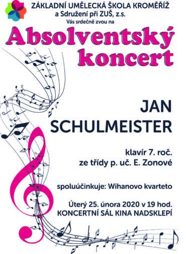 Absolventský koncert 25. února 2020